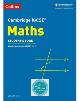 9780008257798, Cambridge IGCSE® Maths Student's Book paperback(Releases April 2018)