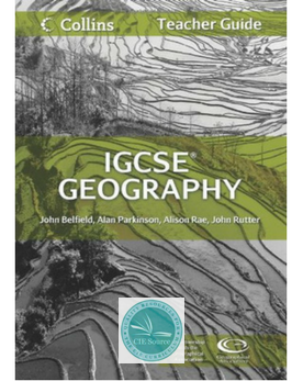 IGCSE Geography Updated Syllabus – CIE SOURCE
