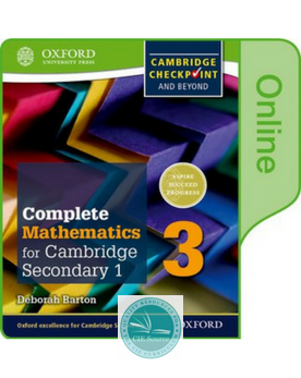 9780198379669, Complete Mathematics for Cambridge Secondary 1 Book 3 :Online Student Book
