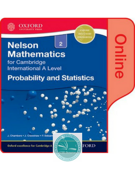 9780198379867, Nelson Probability and Statistics 2 for Cambridge International A Level Online Student Book