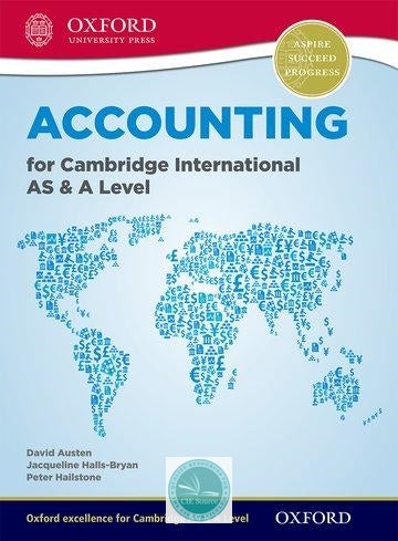 Accounting for Cambridge International AS and A Level Student Book (New 2017)