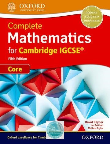 9780198425045, Complete Mathematics for Cambridge IGCSE: Core Student Book (Fifth Edition) (New 2018)