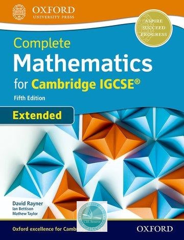 9780198425076, Complete Mathematics for Cambridge IGCSE: Extended Student Book (Fifth Edition) Paperback