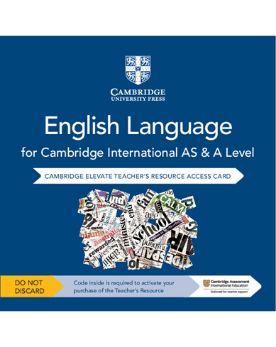 9781108455893, Cambridge International AS and A Level English Language Cambridge Elevate Teacher's Resource Access Card