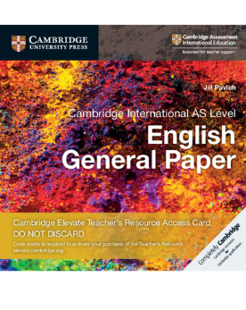 9781108457880, Cambridge International AS Level English General Paper Cambridge Elevate Teacher's Resource Access Card (New)