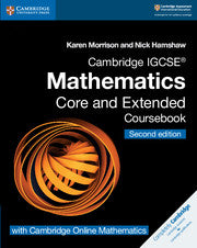 9781108525732, Cambridge IGCSE® Mathematics Coursebook Core and Extended Second Edition with Cambridge Online Mathematics (2 Years) New 2018