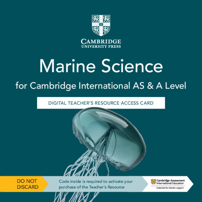 Cambridge International AS & A Level Marine Science Digital Teacher's Resource Access Card (NYP Due June 2020)