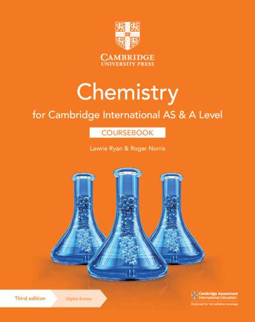 Cambridge International AS &A Level Chemistry Coursebook with Digital Access (2 Years)