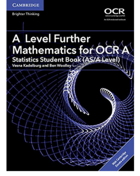 9781316644263, A Level Further Mathematics for OCR A Statistics Student Book (AS/A Level) with Cambridge Elevate Edition (2 Years) New 2018