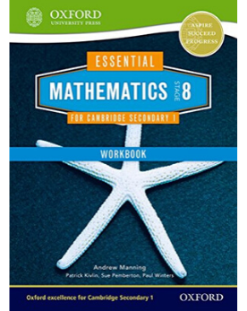 9781408519875, Essential Mathematics for Cambridge Secondary 1 Stage 8 Work Book