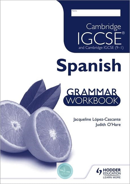 9781444181036, Cambridge IGCSE and Cambridge IGCSE (9–1) Spanish Grammar Workbook
