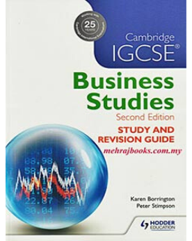 9781471856556, Cambridge IGCSE Business Studies Study and Revision Guide 2nd edition