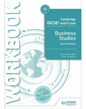 9781510421257, Cambridge IGCSE and O Level Business Studies Workbook 2nd edition (New 2018)