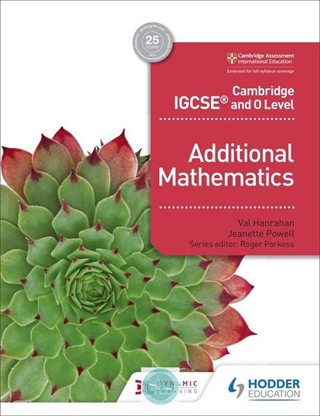 9781510421646, Cambridge IGCSE and O Level Additional Mathematics(Releases June 2018) - CIE SOURCE