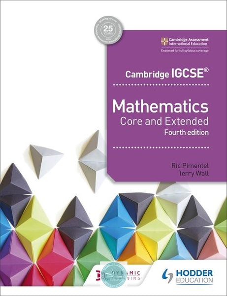 9781510421684, Cambridge IGCSE Mathematics Core and Extended 4th edition (New 2018)