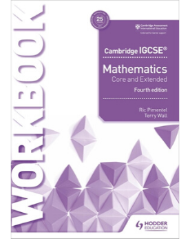 9781510421707, Cambridge IGCSE Mathematics Core and Extended Workbook(New 2018) - CIE SOURCE