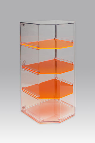4-Shelf Retail Display Case with 3 Removable Shelves