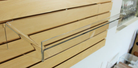 Slatwall Shelf - Clear