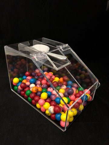 Slanted Lid Double Candy Bin