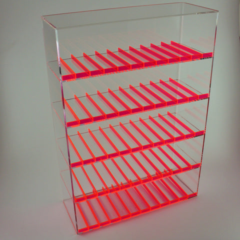 E-Juice/E-Liquid/ Lotions/ Oils Display with Fluorescent Dividers - Pink