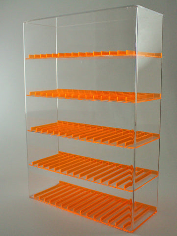 E-Juice/E-Liquid/ Lotions/ Oils Display with Fluorescent Dividers - Orange