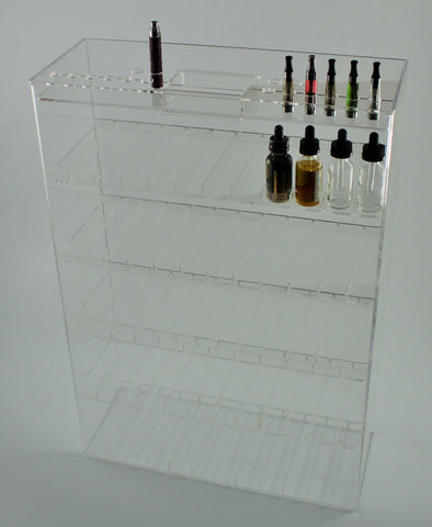 E-Juice/E-Liquid/ Lotions/ Oils Display 5 shelf with built in Tester/Sampling Top!