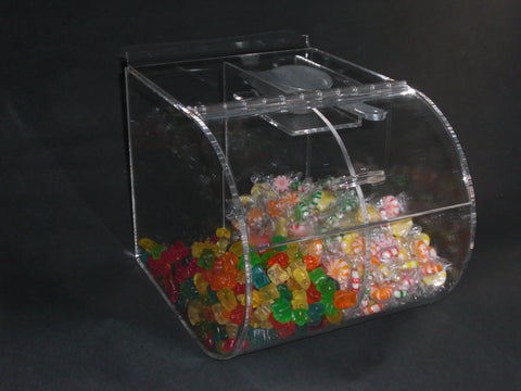 Double Compartment Round Faced Candy Bin #RFD9912SW