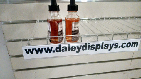 Slatwall shelf for E-Juice/E-Liquid bottles