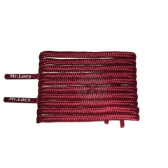 Mr Lacy Runnies Round - Burgundy Shoelaces