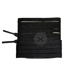 Mr Lacy Runnies Flat - Black Shoelaces [120cm]