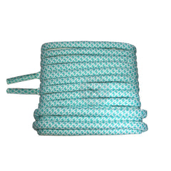 Mr Lacy Ropies - Mint Green & White Shoelaces