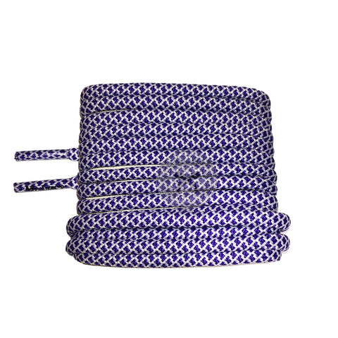 Mr Lacy Ropies - Violet & White Shoelaces