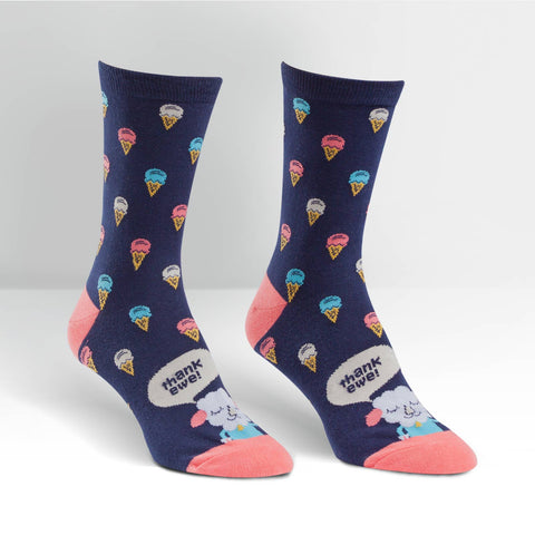 Sock It To Me Women's Crew Socks - Thank Ewe
