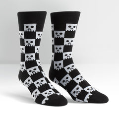 Sock It To Me Men's Crew Socks - Check Your Skull