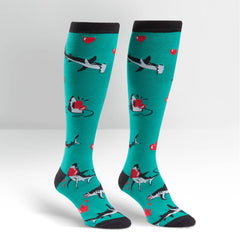 Sock It To Me Women's Funky Knee High Socks - Love Bites