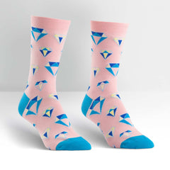 Sock It To Me Women's Crew Socks - Diamonds are Forever