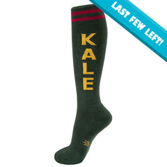 Gumball Poodle Unisex Knee High Socks - Kale