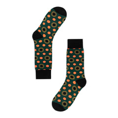 Golden Rabbit Unisex Crew Socks - Vary Army - Large