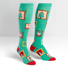Sock It To Me Women's Funky Knee High Socks - Holiday Photos