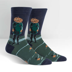 Sock It To Me Men's Crew Socks - Pumpkin Head