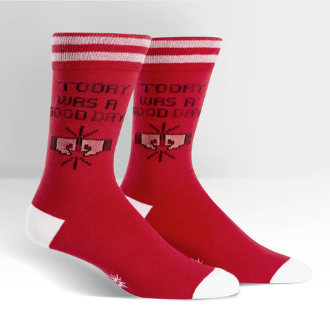 Sock It To Me Men's Crew Socks - Today was a good day