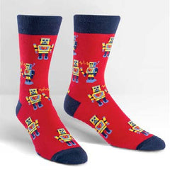 Sock It To Me Men's Crew Socks - Robot Love