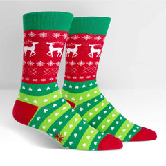 Sock It To Me Men's Crew Socks - Tacky Holiday Sweater