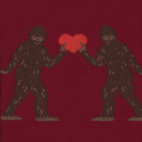 Sock It To Me Men's Crew Socks - Sasquatch Valentine