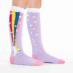 Sock It To Me Kids Knee High Socks - Rainbow Blast (7-10 Years Old)