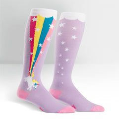 Sock It To Me STRETCH-IT Unisex Knee High Socks - Rainbow Blast