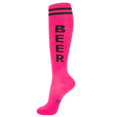 Gumball Poodle Unisex Knee High Socks - Hot Pink Beer