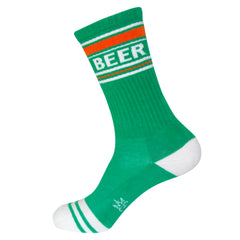 Gumball Poodle Unisex Ribbed Gym Socks - Green Beer