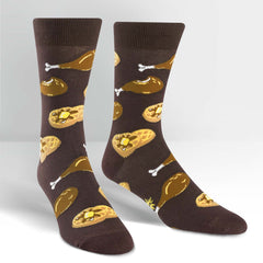 Sock It To Me Men's Crew Socks - Chicken & Waffles