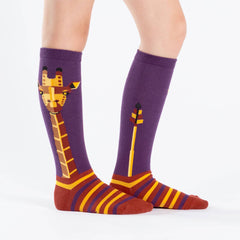 Sock It To Me Kids Knee High Socks - Geo-raffe (7-10 Years Old)